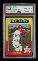 """Pete Rose Signed 1975 Topps #320 Inscribed """"1975 WS MVP"""" (PSA Encapsulated) at PristineAuction.com"""