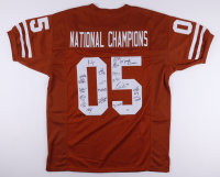 """2005 Texas Longhorns """"National Champions"""" Jersey Team-Signed by (20) with Vince Young, Mack Brown, Jordan Shipley, Brian Oakpo, Aaron Ross (PSA LOA) at PristineAuction.com"""