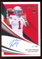 Justin Fields 2021 Immaculate Collection Collegiate Rookie Autographs #105 #37/49 at PristineAuction.com