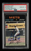 "Nolan Ryan Signed 1971 Topps #513 Inscribed ""H.O.F. 99"" (PSA Encapsulated) at PristineAuction.com"