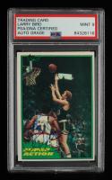 Larry Bird Signed 1981-82 Topps #E10 SA (PSA Encapsulated) at PristineAuction.com