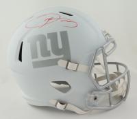 Odell Beckham Jr. Signed LE Giants Full-Size White ICE Speed Helmet (Steiner COA) at PristineAuction.com