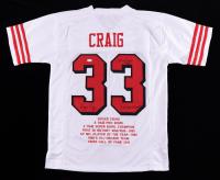 "Roger Craig Signed Career Highlight Stat Jersey Inscribed ""3x SB Champ"" & ""1000/1000 85"" (JSA COA) (See Description) at PristineAuction.com"