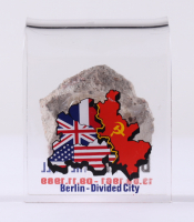 Berlin Wall Fragment with Display Stand (Pawlowski COA) (See Description) at PristineAuction.com