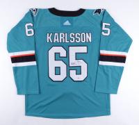 Erik Karlsson Signed Sharks Jersey (PSA COA) at PristineAuction.com