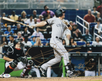 "Ryan McMahon Signed Rockies 11x14 Photo Inscribed ""8-12-17 MLB Debut"" (PSA Hologram) at PristineAuction.com"