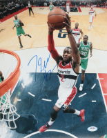 John Wall Signed Wizards 11x14 Photo (PSA Hologram) at PristineAuction.com