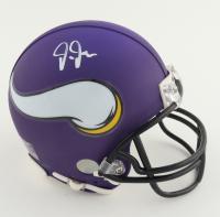 Justin Jefferson Signed Vikings Mini Helmet (JSA COA) (See Description) at PristineAuction.com