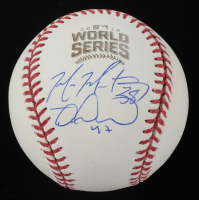 Miguel Montero & Mike Montgomery Signed 2016 World Series Baseball (Beckett COA) at PristineAuction.com