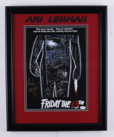 "Ari Lehman Signed ""Friday the 13th"" 17.5x21.5 Custom Framed Photo Inscribed ""Jason 1"" (JSA COA) at PristineAuction.com"