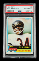 Walter Payton 1981 Topps #400 (PSA Authentic) at PristineAuction.com