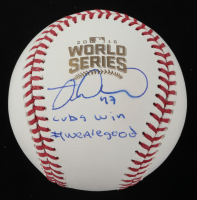"""Miguel Montero Signed 2016 World Series Baseball Inscribed """"#WeAreGood"""" (Beckett COA) at PristineAuction.com"""