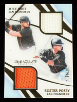 Buster Posey / Joey Bart 2021 Immaculate Collection Material Duals #5 #38/99 at PristineAuction.com