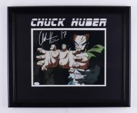 "Chuck Huber Signed 18.5x22.5 Custom Framed Photo Display Inscribed ""17"" (JSA COA) at PristineAuction.com"