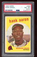 Hank Aaron 1959 Topps #380 (PSA 8) (OC) at PristineAuction.com