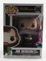 """Guy Gilchrist Signed """"Jim Henson with Kermit"""" Icons #20 Funko Pop! Vinyl Figure Inscribed """"A Zobie Exclusive"""" & """"LOKI"""" with Hand-Drawn Animal as Loki Sketch (JSA COA) at PristineAuction.com"""