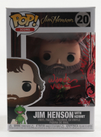 """Guy Gilchrist Twice Signed """"Jim Henson with Kermit"""" Icons #20 Funko Pop! Vinyl Figure Inscribed """"A Zobie Exclusive"""" & """"Wanda Vision"""" with Hand-Drawn Miss Piggy as Wanda Sketch (JSA COA) at PristineAuction.com"""