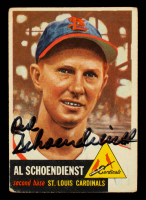 Red Schoendienst Signed 1953 Topps #78 (Beckett COA) at PristineAuction.com