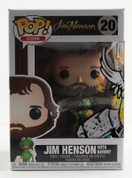 """Guy Gilchrist Signed """"Jim Henson with Kermit"""" Icons #20 Funko Pop! Vinyl Figure Inscribed """"A Zobie Exclusive"""" with Hand-Drawn Kermit as Thor Sketch (JSA COA) at PristineAuction.com"""