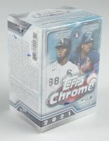 2021 Topps Chrome Baseball Blaster Box with (8) Packs at PristineAuction.com
