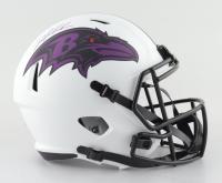 Odafe Jayson Oweh Signed Ravens Full-Size Lunar Eclipse Alternate Speed Helmet (JSA COA) (See Description) at PristineAuction.com