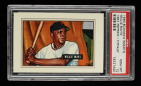 Willie Mays 1989 Bowman Reprint Inserts Tiffany #7 '51 (PSA 10) at PristineAuction.com