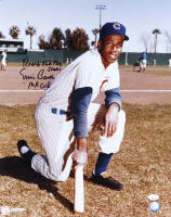"""Ernie Banks Signed Cubs 16x20 Photo Inscribed """"Reach For the Stars"""" & """"Mr. Cub"""" (JSA COA) at PristineAuction.com"""