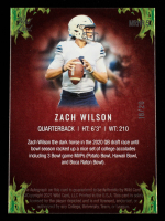 Zach Wilson 2021 Wild Card Matte Black Red Hot Rookies Autographs Fire Red Green #MRHR5 #18/20 at PristineAuction.com