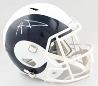 Aaron Donald Signed Rams Full-Size AMP Alternate Speed Helmet (JSA COA) at PristineAuction.com
