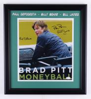 "Paul Depodesta, Billy Beane & Bill James Signed ""Moneyball"" 18x19.5 Custom Framed Photo Display (JSA COA) (See Description) at PristineAuction.com"