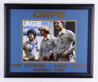 "Erik Estrada, Larry Wilcox & Robert Pine Signed ""CHiPs"" 18.5x22.5 Custom Framed Photo Display (JSA COA) (See Description) at PristineAuction.com"