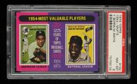 Yogi Berra / Willie Mays 1975 Topps #192 MVP (PSA 8) at PristineAuction.com