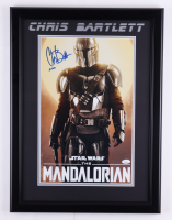 "Chris Bartlett Signed ""Star Wars: The Mandalorian"" 17.5x23.5 Custom Framed Photo Display Inscribed ""Zero"" (JSA Hologram) (See Description) at PristineAuction.com"