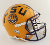 """Kayshon Boutte Signed LSU Tigers Full-Size Speed Helmet Inscribed """"Geaux Tigers"""" (Beckett Hologram) at PristineAuction.com"""