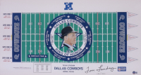 Tom Landry Signed LE Dallas Cowboys Ring of Honor 16x30 Poster (Beckett COA) (See Description) at PristineAuction.com