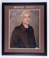Brad Pitt Signed 22.5x26.5 Framed Photo (JSA COA) (See Description) at PristineAuction.com