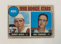 Johnny Bench RC / Ron Tompkins 1968 Topps #247A Rookie Stars at PristineAuction.com