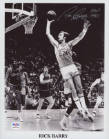 """Rick Barry Signed Warriors 8x10 Photo Inscribed """"HOF 1987"""" (PSA COA) at PristineAuction.com"""