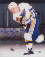 "Brett Hull Signed Blues 8x10 Photo Inscribed ""HOF 2005"" (PSA COA) at PristineAuction.com"