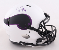 Justin Jefferson Signed Vikings Full-Size Authentic On-Field Lunar Eclipse Alternate Speed Helmet (Beckett Hologram) (See Description) at PristineAuction.com