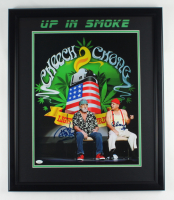 Cheech Marin & Tommy Chong Signed 22.5x26.5 Framed Photo (JSA COA) at PristineAuction.com