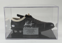 """Nolan Ryan Signed Baseball Cleat with Display Case Inscribed """"5,714 K's"""" (PSA COA) (See Description) at PristineAuction.com"""