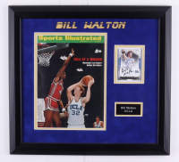Bill Walton 2012-13 Exquisite Collection Endorsements #BW 17x18 Custom Framed Display with 1973 Sports Illustrated Magazine #48/99 at PristineAuction.com