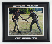 "John Bernthal & Norman Reedus Signed ""The Walking Dead"" 22.5x26.5 Framed Photo (JSA COA) at PristineAuction.com"