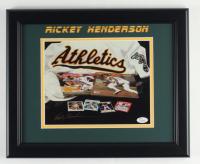 Rickey Henderson Signed 13.5x16.5 Custom Framed Photo Display (JSA COA) (See Description) at PristineAuction.com