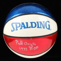 """Paul Arizin Signed Spalding Mini Basketball Inscribed """"1978 HOF"""" (JSA Hologram) (See Hologram) at PristineAuction.com"""