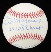 "Bill Mazeroski Signed OML Baseball Inscribed ""2x WS Champs"" & ""8x Gold Glove"" (JSA COA) at PristineAuction.com"