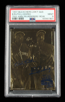 Babe Ruth / Lou Gehrig 1997 Bleachers 70th Anniversary Murderer's Row 23KT Gold Card  (PSA 9) at PristineAuction.com