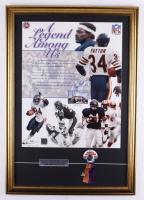 Walter Payton Signed Bears 21x30 Custom Framed Photo Display With Original 1985 Champions Ribbon (PSA LOA) at PristineAuction.com