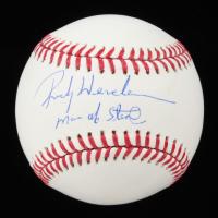 "Rickey Henderson Signed OML Baseball Inscribed ""Man of Steal"" (JSA COA) at PristineAuction.com"